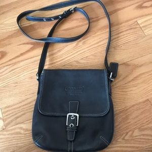 Coach black cross body purse!